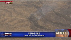 Lightning-caused Verde wildfire at 0% containment