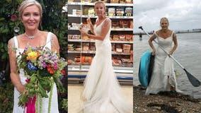 Thrifty bride keeps wearing $365 wedding dress to get her 'money's worth'