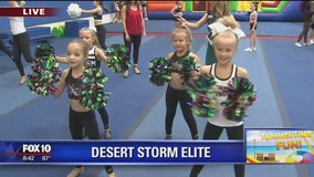 Desert Storm Elite's cheer and gymnastics camp