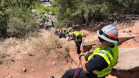 Girl hospitalized after falling 75 feet in Oak Creek Canyon