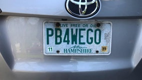 New Hampshire bartender's potty-themed license plate gets canned