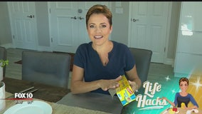 Life Hacks: Press and seal wrap for easy table clean-up