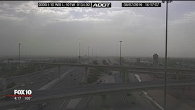 Blowing dust seen in parts of the Valley