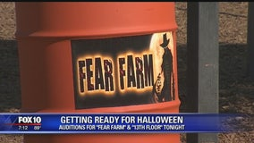 Getting ready for Halloween: 'Fear Farm' and '13th Floor' holding auditions