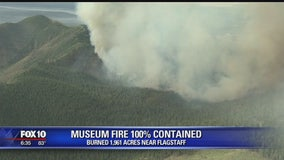Museum fire 100% contained