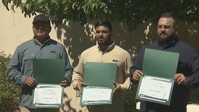 SRP workers honored by ADOT for extinguishing burning semi