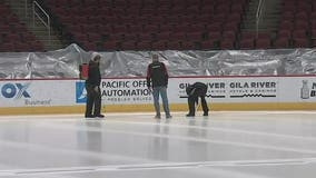 Ice installed at Gila River Arena for upcoming Coyotes' season