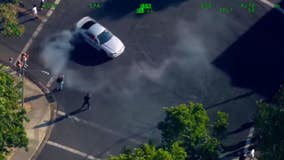 CHP aerial video captures illegal sideshow activity in Northern California
