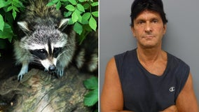 NJ man accused of stabbing, pouring bleach on caged raccoons