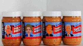Peanut butter branded with 2020 presidential candidates