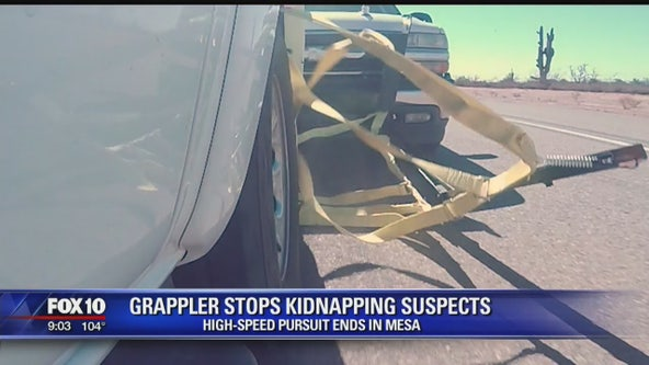 Valley man's invention helped end high-speed pursuit in Mesa; suspects in woman's kidnapping arrested