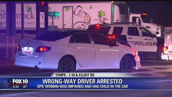DPS: Wrong-way driver was impaired, had child in car