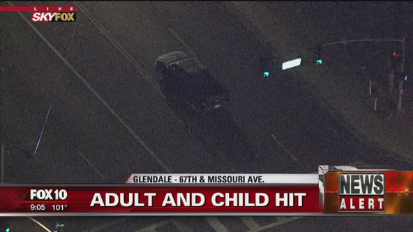 Glendale Police: Mother, child hit by car along Missouri Avenue