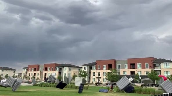 Runaway air mattresses take flight during outdoor movie event in Denver