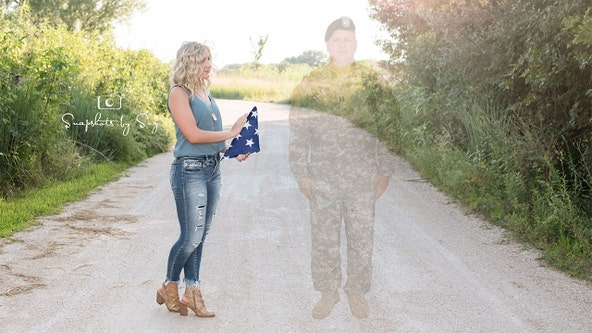 High school student honors father killed in Afghanistan with 'angel' senior photos