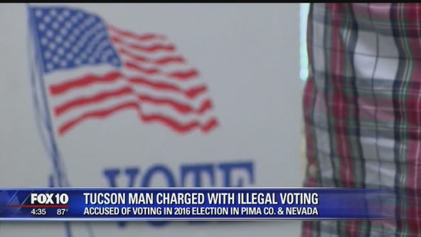 Tucson man charged with voting in 2 states in 2016 election