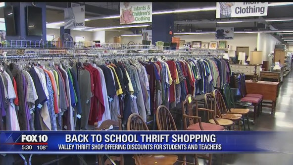 Back-to-school shopping at Gracie's Thrift Store