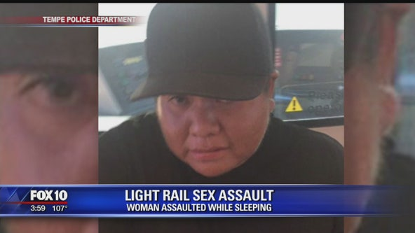PD: Man accused of sexually assaulting sleeping woman on the Light Rail