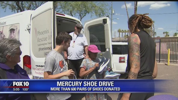 Phoenix Mercury star donates shoes to those in need
