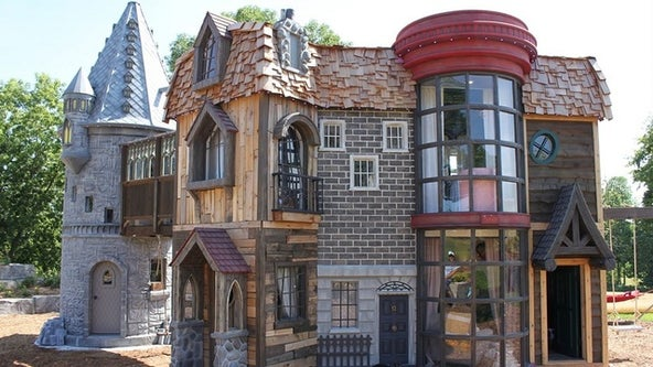 Grandparents build 'world's best' Harry Potter playhouse for family