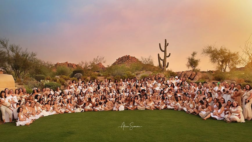 Valley moms make a statement in viral group breastfeeding photo