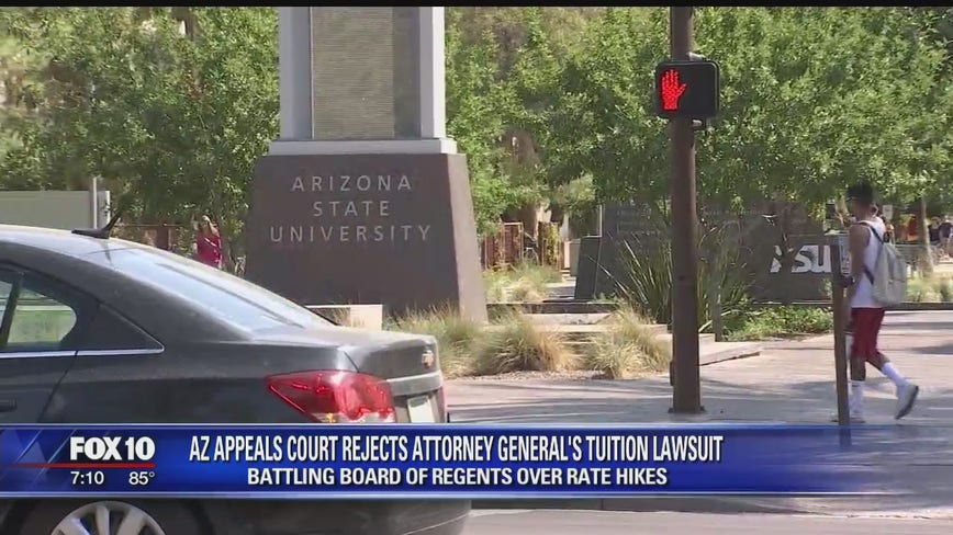 Arizona appeals court rejects AG's tuition lawsuit