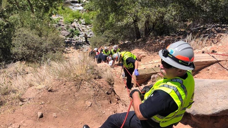 Girl hospitalized after falling 75 feet in Oak Creek Canyon