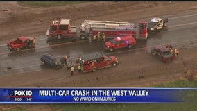 MCSO investigates multi-vehicle crash in the West Valley