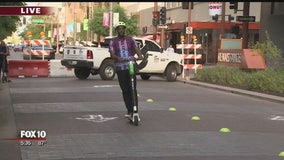 Bumpy start for 6-month pilot program to bring e-scooters to Downtown Phoenix