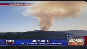 Johnson Fire near Prescott is 75% contained