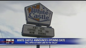 White Castle announces opening date of first Arizona restaurant