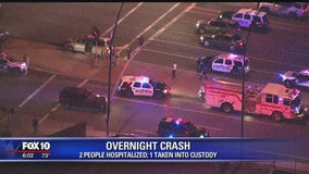 DPS: 2 hospitalized, 1 taken into custody after vehicle slammed into another car on US 60