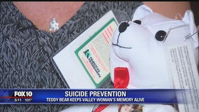 Suicide prevention: Teddy bear keeps Valley woman's memory alive