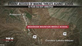 Prescott Valley police arrest boy for alleged school threats