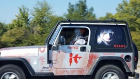 Man scares drivers after decorating his Jeep after 'It' movie