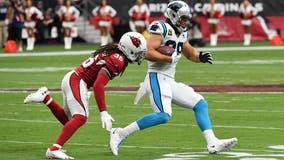 Allen throws 4 TDs, Panthers beat Cardinals 38-20