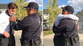 Video: Utah police officer teaches teen how to tie a tie