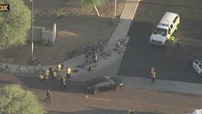 Serious crash shuts down roads in far West Valley; several bicyclists injured