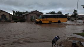 Cleanup underway after stormy weather battered Arizona Monday