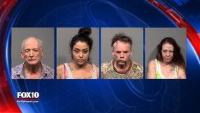 YCSO: Traffic stop leads to seizure of meth, fentanyl, heroin, 4 arrests
