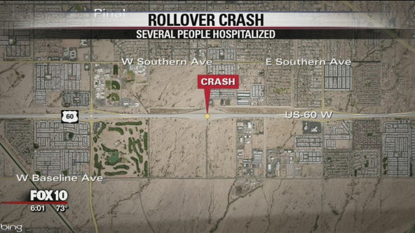 Crash closes both directions of US 60 in Apache Junction