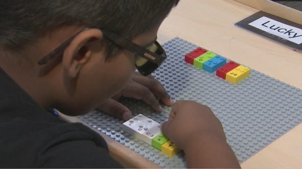 Valley foundation for blind children receives 'Braille Brick' Legos