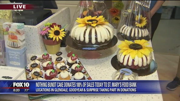 Nothing Bundt Cakes donates 100 percent of sales to St. Mary's Food Bank Tuesday