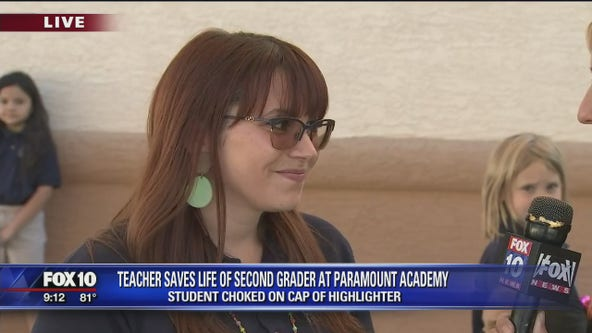 Peoria teacher saves second-grader who was choking on highlighter cap