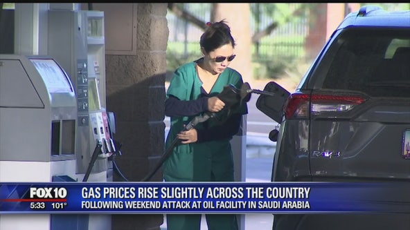Gas prices rise slightly following attack on oil facility in Saudi Arabia