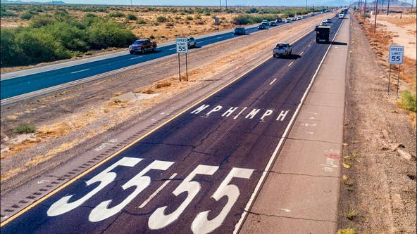 Arizona hopes speed limits on pavement decals boost safety