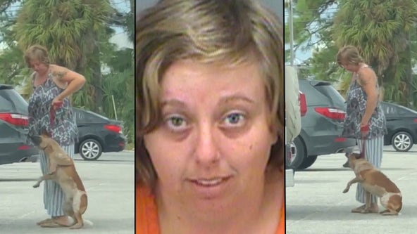 Florida woman arrested for kicking, pulling dog off the ground by leash