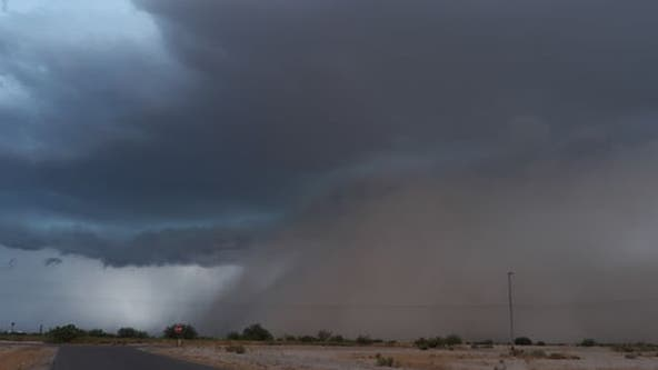Storm brought rain, blowing dust to areas south of the Valley