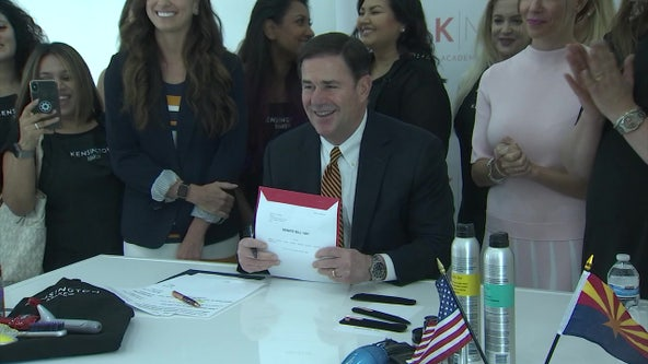 """Cosmetology students celebrate as """"Blow-Dry Freedom Bill"""" takes effect as Arizona law"""