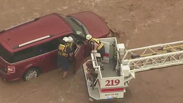 Severe flooding in Phoenix as storm rolls through the Valley